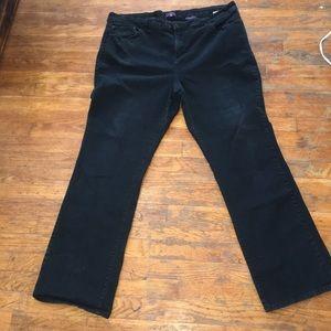 NYDJ 22w straight black stretchy jeans